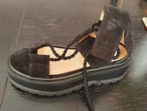 Sandale noi din piele intoarsa Exclusives