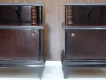 2 Buc. Noptiera vintage Lemn Masiv; Dulapior pentru dormitor
