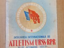 C834-I-Program sportiv-Atletism URSS-RPR 1950-St Republicii