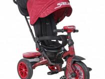 Tricicleta multifunctionala 4 in 1 Speedy Red
