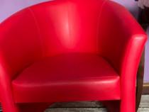 2 fotolii Kring Addagio piele ecologica rosie