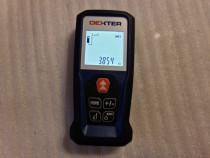 Telemetru laser DEXTER LDM50 50 m pointer laser, afisaj digi