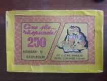 Joc vintage - Cine stie... raspunde ! 250 intrebari