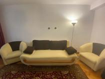 Canapea extensibila si 2 fotolii