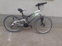 Bicicleta copii dimensiune roti 24,suspensie față/spate
