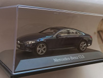 Macheta Mercedes Benz CLS 2018 C257 bleumarin - Norev 1/43