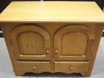 Bufet cu 2 usi si 2 sertare; Dulap lemn masiv cu rafturi