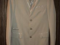 Costum ginere sacou,vesta,pantaloni,cravata marime 42 INEDIT
