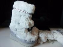 Cizme albe de iarna, foarte calduroase