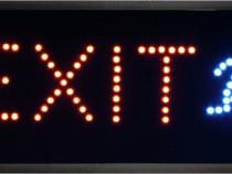 Afisaj cu LED-uri, afisaj Exit-113629
