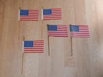 Steaguri americane din material textil (15.5x9.4cm)(la buc)
