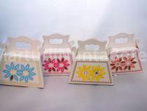 Marturie nunta/botez cutiuta cadou poseta 4 culori
