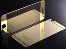 Folie sticla iphone 6 6s plus tunning auriu oglinda fata+spa