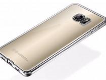 Samsung S7/S7 Edge - Husa Slim Spate Clar Margine Neagra