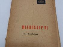 Carte tehnică mikroskop nf / 1960