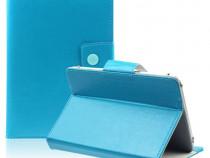 Husa Tableta 8 Inch Model X , Turcoaz , Tip Mapa C93