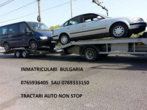 Tractari auto platforma slep non stop inmatriculari bulgaria