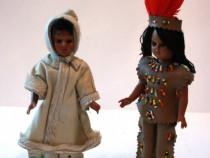 Papusi vintage de colectie, haine traditionale-Indieni nativ