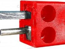 Conector boxe 2 pini, tata, pe cablu - 123601