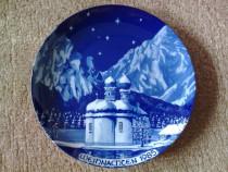 Farfurie decorativa portelan Bavaria, cobalt