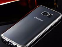 Samsung S7 Edge - Husa Slim 0.3mm Silicon Gold Rose Gray