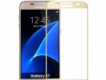 Folie Sticla Samsung Galaxy S7 g930 Gold Fullcover Tempered