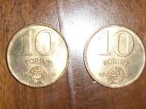Lot 3 monede 10 forinți Ungaria 1985, 1989, 2004