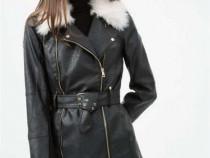 Jacheta-geaca din piele cu blana - idee Cadou