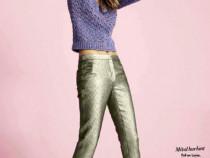 Pantaloni piele de sarpe produs nou cu eticheta + cadou surp