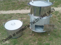 Cazan(vas,oala,ceaun) din inox.capacitate de 120 de litri.no