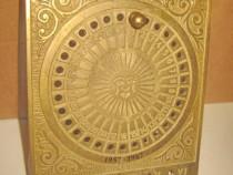 5524-Calendar solar vintage din alama pe 30 ani-1957-1987.