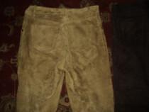 Pantaloni piele naturala culoare mustar marimea 31