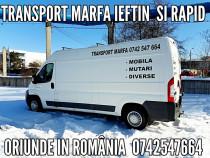 Transport marfa mobila electrocasnice, colete, etc