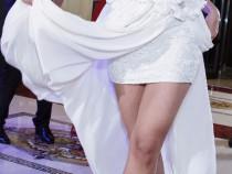 Rochie de mireasa ivory, 2 in 1, marimea S