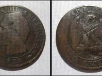 5214a-Moneda veche 5 Centimes Napoleon3 1854 Empire Francais