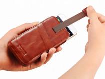 Husa / toc / saculet piele naturala icarer iphone 7 plus