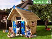 Casuta Copii, Casuta de Lemn - Jungle Gym Crazy Playhouse