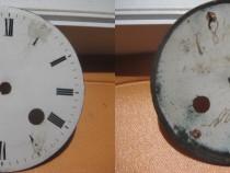 1518-Cadran mare vechi portelan pt. ceas cu 2 chei. Diam.9.5