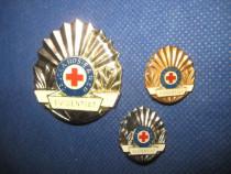 Crucea Rosie-3 insigne Evidentiat.