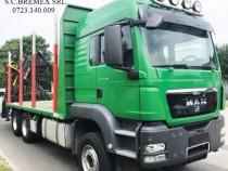 Camion transport lemn MAN 6x4-arc fier fata-spate+leasing10%