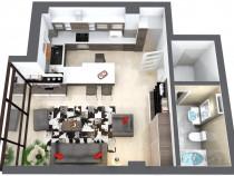 Apartament 1 camera modern, simplu si practic Baza 3