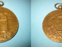 Medalia veche bronz-Forville 1924, Belgia stare buna.