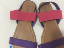 Sandale talpa plata,mov cu roz, 37, noi cu eticheta