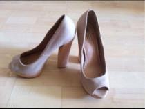 Pantofi berska bej, cu platforma, 36, foarte comozi