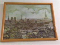 Tablou Paris turnul Eiffel,Sena,Notre-Dame,adus de la Paris