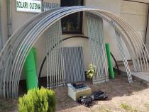 Solar metalic pentru legume si flori 18 m lungime /4 m desch