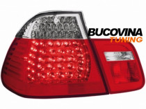 Stopuri led bmw 3er e46 limousine 98-01 – fundal rosu-crista