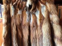 Haina dama blana naturala de vulpe