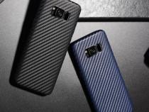 Husa slim tpu moale Hoco Samsung S8 Plus aspect fibra carbon