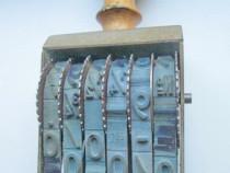 FAMOS nr2 Stampila rotativa metalica veche firma.